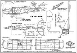 D.H. Puss  Moth model airplane plan