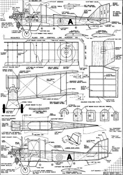 DeHavilland-Trainer model airplane plan
