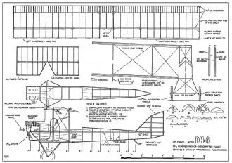 DeHavilland DH-6-WR Stroman model airplane plan
