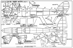 DeHavilland DH82 Tiger Moth model airplane plan