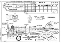 De Havilland 71-FM-08-54 model airplane plan