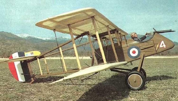 De Havilland DH-2 model airplane plan