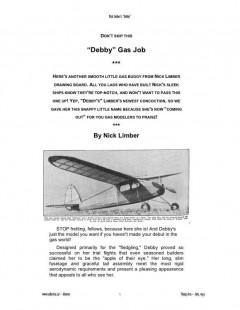 Debby model airplane plan
