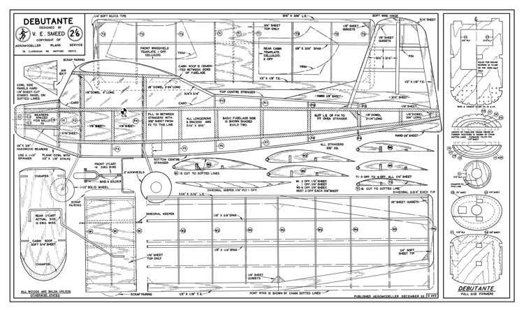 Debutante model airplane plan