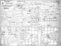 Delanne model airplane plan
