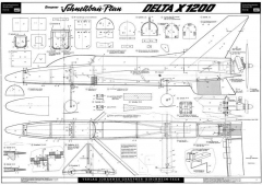 Delta X1200 Graupner model airplane plan