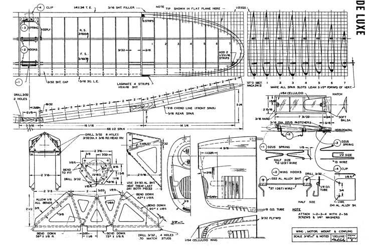 Deluxe model airplane plan