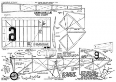 Demoiselle model airplane plan