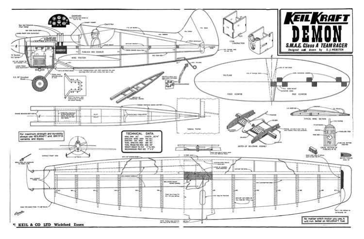Demon model airplane plan