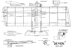Demon CL model airplane plan