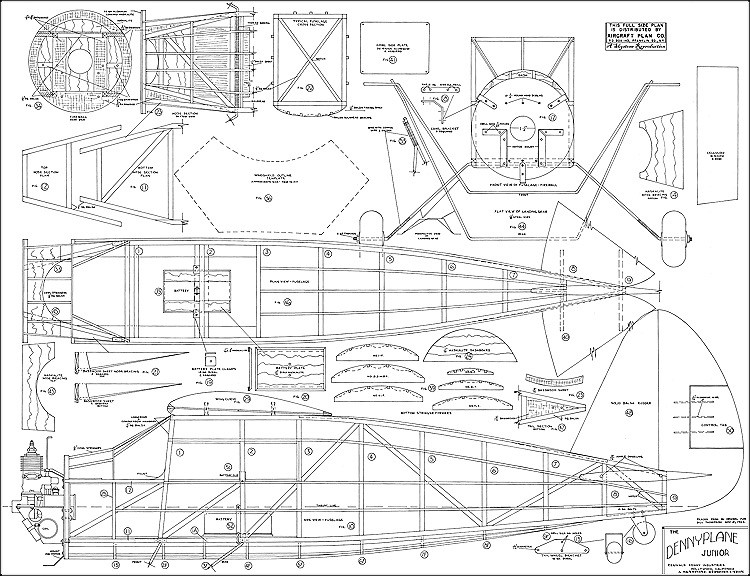 Dennyplane Junior model airplane plan
