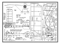Deperdussin 1913 Racer model airplane plan