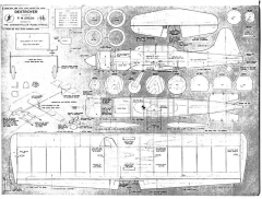 Destroyer model airplane plan