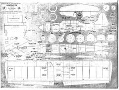 Destroyer model airplane plan