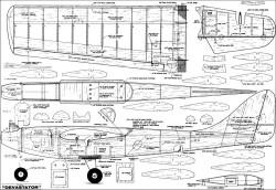 Devastator RC model airplane plan