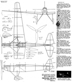 Dewoitine D33 model airplane plan