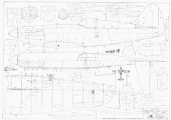Dewoitine D520 model airplane plan