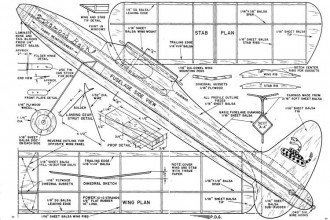 Diamond Back model airplane plan