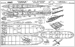 Diana Frog sailplane model airplane plan