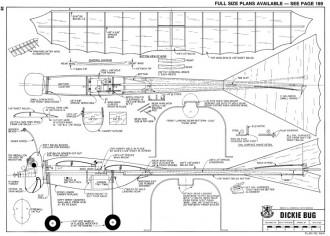 Dickie Bug model airplane plan
