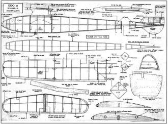 Dido 1A glider model airplane plan