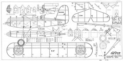 1932 Dipper, double size model airplane plan