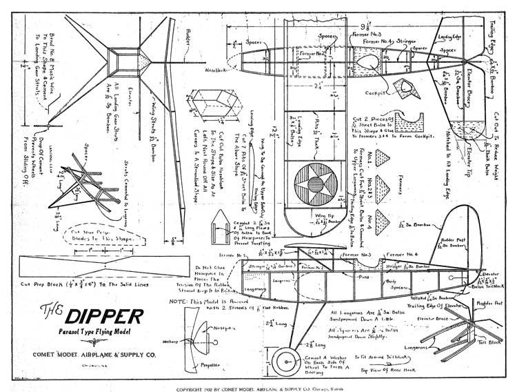 Dipper 1932 model airplane plan