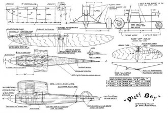 Dizzy Boy model airplane plan