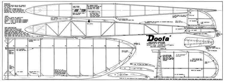 Doofa model airplane plan