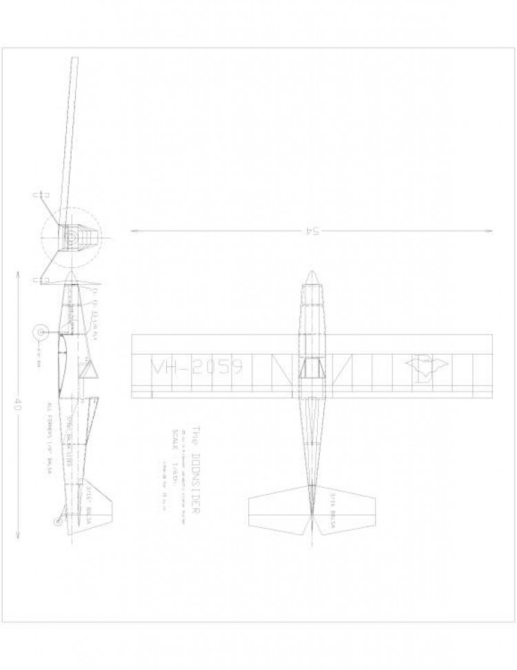 Doonsider 25 Model 1 model airplane plan