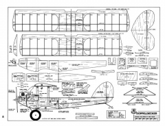 Doppeldecker-RCM-05-81 model airplane plan