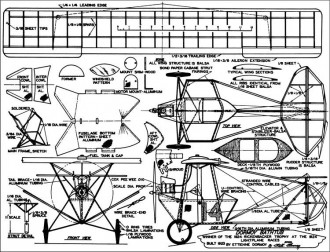 Dormoy Bathtub model airplane plan