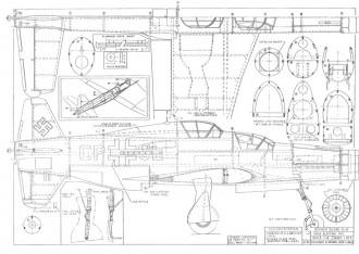 Dornier DO-335 V-II J Bale model airplane plan