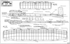 Doubloon 38in model airplane plan