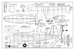 Douglas BD-7 model airplane plan