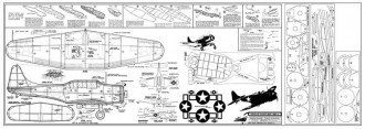 Douglas Dauntless SBD-3 model airplane plan