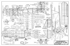 Douglas O-38S model airplane plan