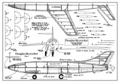 Douglas Skyrocket model airplane plan
