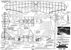 Douglas YO-43 22in model airplane plan