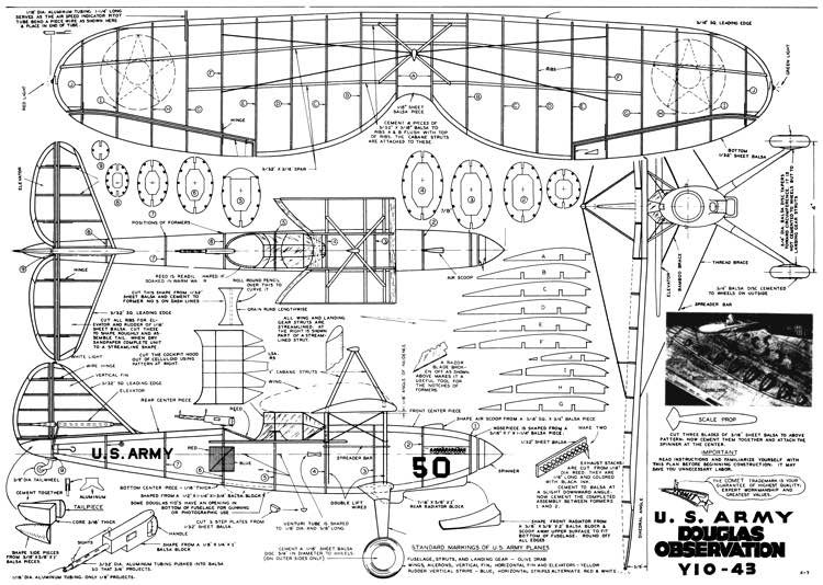 Douglas Y1O-43 model airplane plan