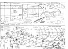 DouglasTBD-1 model airplane plan