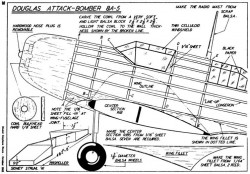 Douglas Attack p1 model airplane plan