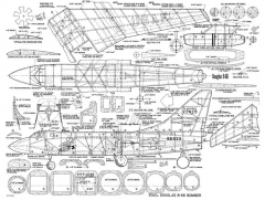 Douglas B-66-MAN-04-57 model airplane plan