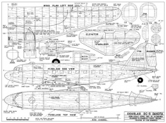 Douglas DC-3 Dakota model airplane plan