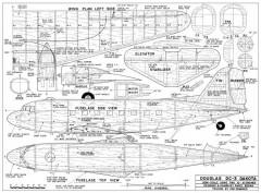 Douglas DC-3 Dakota model airplane plan