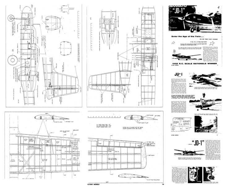 Douglas JD-1 model airplane plan