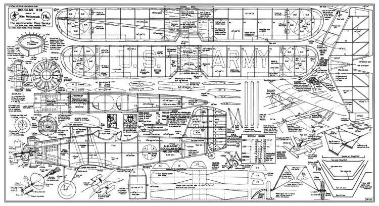 Douglas O-38 model airplane plan