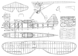 Douglas O-41A model airplane plan