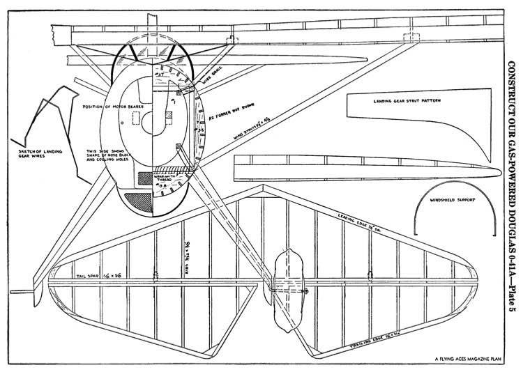 Douglas O-41a p5 model airplane plan