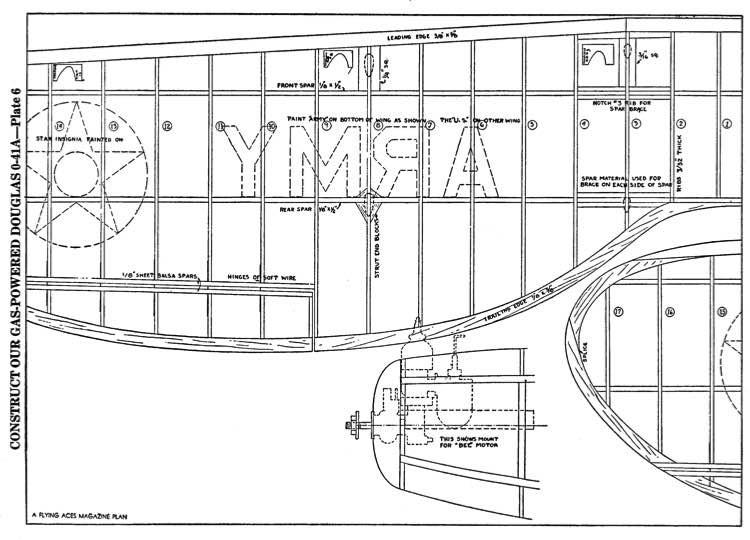 Douglas O-41a p6 model airplane plan